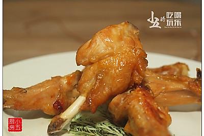 烤鸡翅:酱油与白糖就很美味