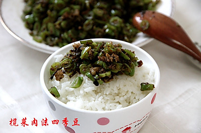榄菜肉沫四季豆