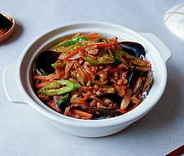 西洋椒椒贝肉锅的做法