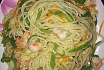 鲜虾炒面的做法