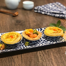 三文鱼香芒青芥蛋挞