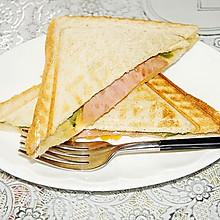 快手早餐火腿水果三明治#晒出你的团圆大餐#