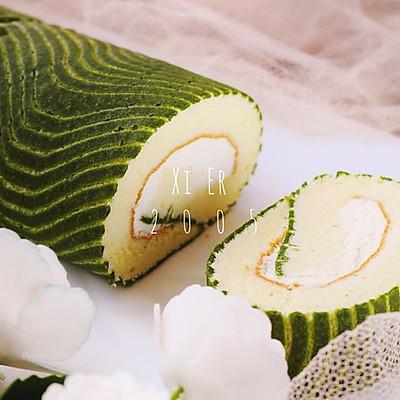 波浪抺茶蛋糕卷