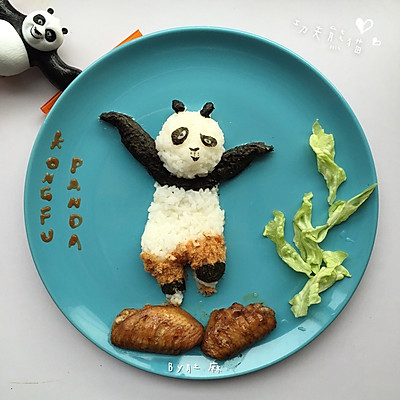 功夫熊猫卡通餐 宝宝创意卡通餐