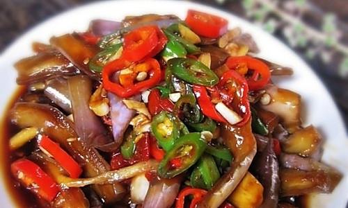 无油无火的鱼香茄子的做法