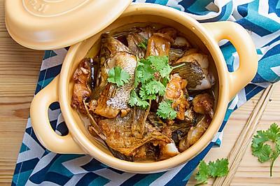 砂锅焗鳜鱼