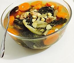 白菜干汤的做法