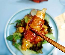 #烤究美味 灵魂就酱#杏鲍菇土豆培根卷的做法