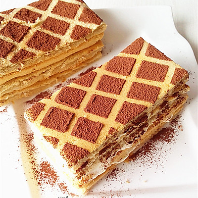 咖啡格子蛋糕