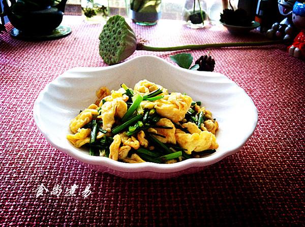 韭菜花炒鸡蛋的做法