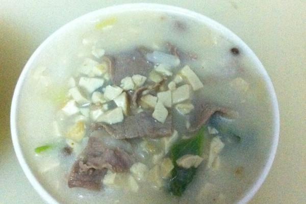 豆腐末肉片汤的做法