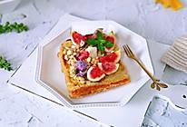 #一道菜表白豆果美食#无花果麦片三明治的做法