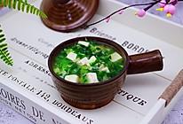 #春天肉菜这样吃#翡翠白玉虾皮羹的做法