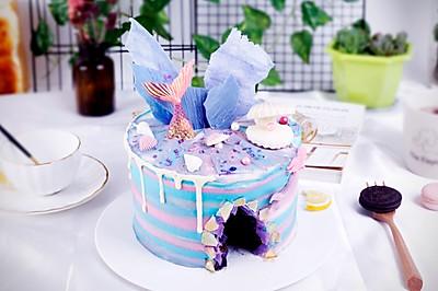 嗨焙食谱 | 颜值爆表的ins海洋水晶溶洞蛋糕