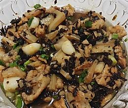 炒鸡简单下饭菜:菜干蒸五花肉的做法