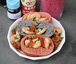 日式面包虾仁蔬菜口袋三明治的做法