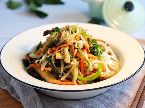 健康低卡家常菜——素什锦大拌菜的做法