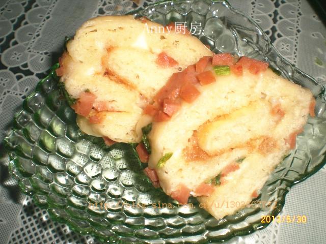 不用揉的无黄油美味面包---肉松面包卷