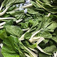 #快手又营养,我家的冬日必备菜品# 猪油渣炒小白菜的做法图解1