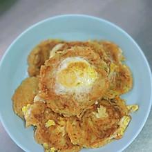#我为奥运出食力#太阳蛋蔬菜饼