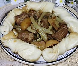 东北一锅出,排骨豆角炖土豆