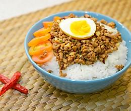 菇菇肉臊饭,来自台南的美味的做法