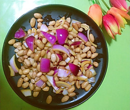 花生拌圆葱的做法