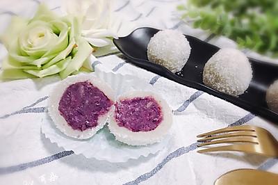 Q弹软糯椰蓉紫薯糯米糍 宝宝喜欢的简单快手小吃下午茶