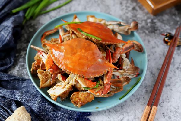 葱姜炒梭子蟹的做法