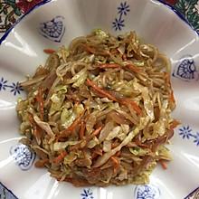 圆白菜炒土豆粉条