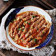 #憋在家里吃什么#茄汁金针菇肥牛卷