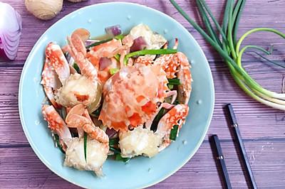 传统的姜葱炒蟹