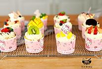 网红奶油纸杯蛋糕(八寸戚风蛋糕版)的做法