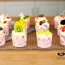 网红奶油纸杯蛋糕(八寸戚风蛋糕版)