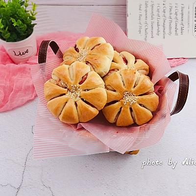 甜心草莓酱面包