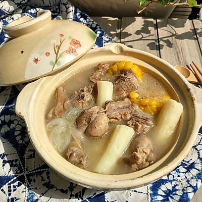 玉米山药粉丝鸭汤