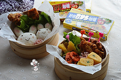日式咖喱炸鸡便当#咖喱萌太奇#