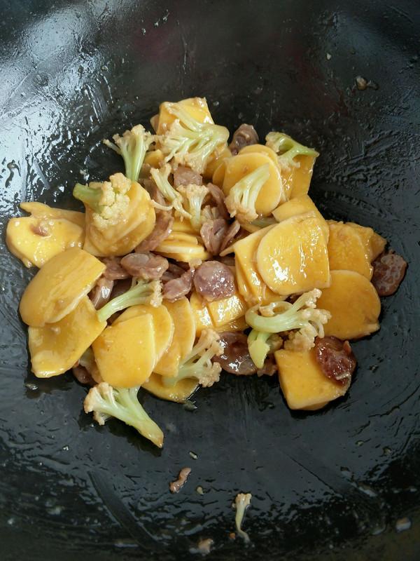 炒黄元米果的做法