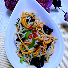 #夏日素食#虫草花凉拌金针菇