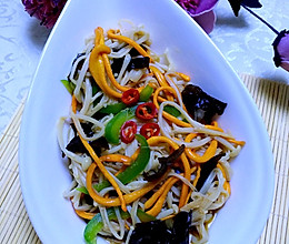 #夏日素食#虫草花凉拌金针菇的做法