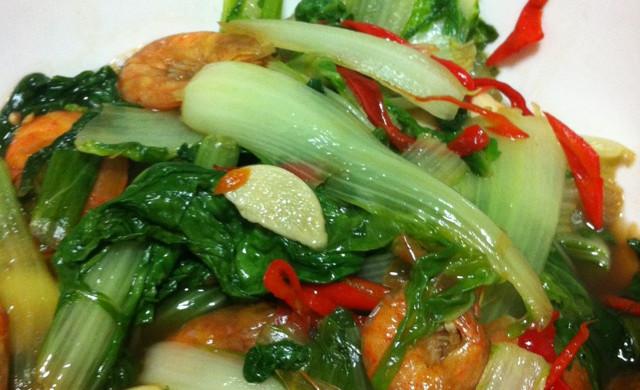 虾干小白菜