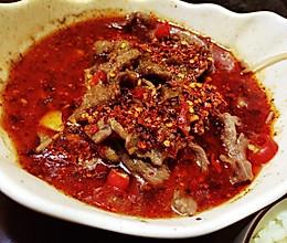 水煮牛肉(一人份)的做法