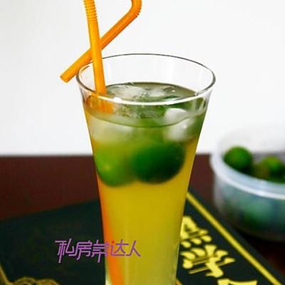 夏日清凉饮品——冰桔茶