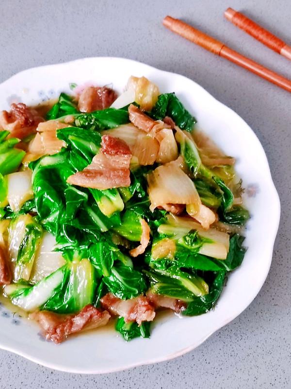 腊肉炒青菜,好吃到连汤汁都不剩的做法