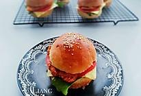 香酥鸡排汉堡包(面包胚+炸鸡排)详解的做法