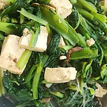 小白菜熬豆腐