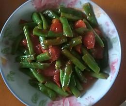 豆角炒西红柿的做法