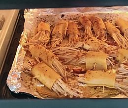 金针菇烤串的做法