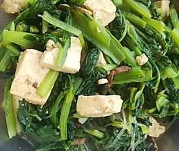 小白菜熬豆腐的做法