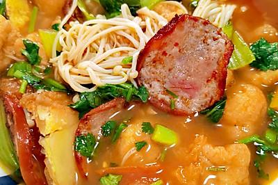 酸爽番茄杂烩,低脂低卡鲜美爽口,好吃到连汤都不剩